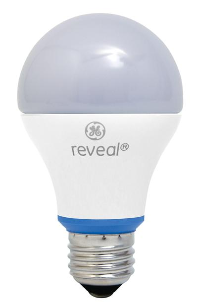 GE's new Reveal 60-watt equivalent LED bulb looks and works a lot like its familiar incandescent counterpart.