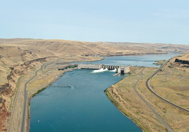 The Lower Monumental Dam on the Snake River, near Kahlotus, Washington (Columbia Basin Federal Caucus photo)