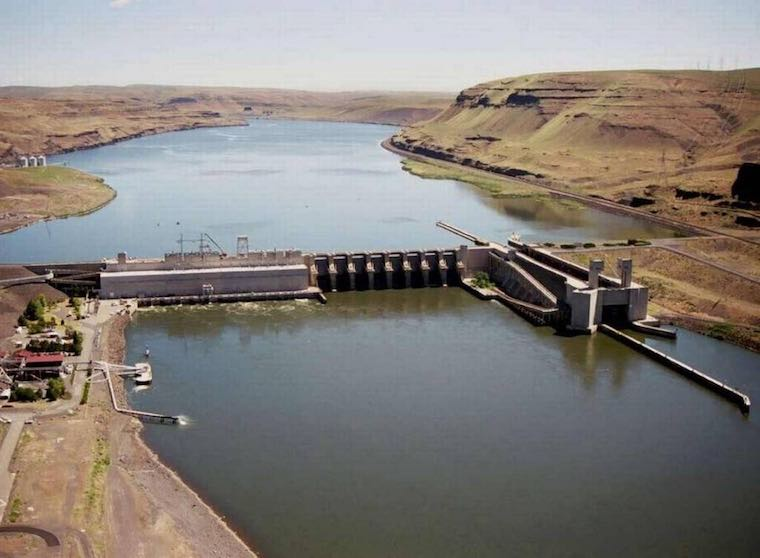 A slow leak of oil into the Snake River over the last seven months has been discovered at Lower Monumental Dam near Kahlotus. Courtesy Army Corps