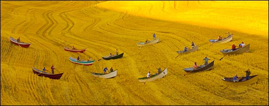 (Photo: Frederic Ohlinger) Fishing for salmon and Washington's fields of wheat.